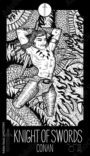 Knight of Swords  Conan  Minor Arcana Tarot card  Fantasy