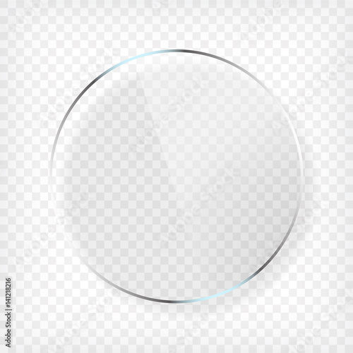 Round Glass Plate with Shadow Wall mural