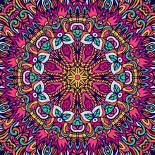 Floral Colorful Mandala Vector...