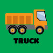 Tipper truck illustration in flat style icon