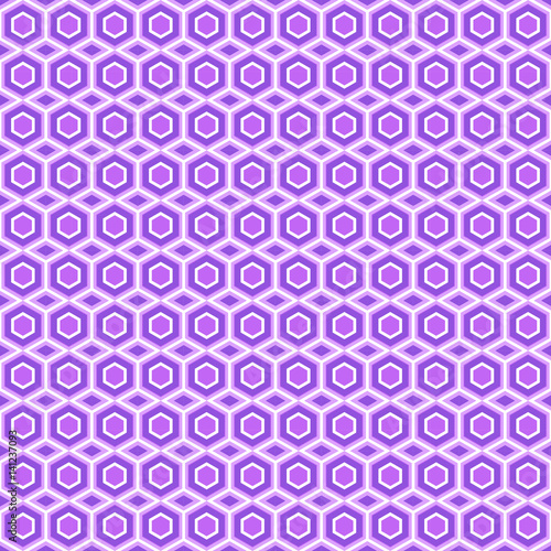 Spoed Foto op Canvas Psychedelic Hexahedrons and triangles seamless background. Oriental motif. Violet shades.