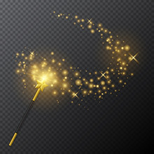 Vector Golden Magic Wand With ...