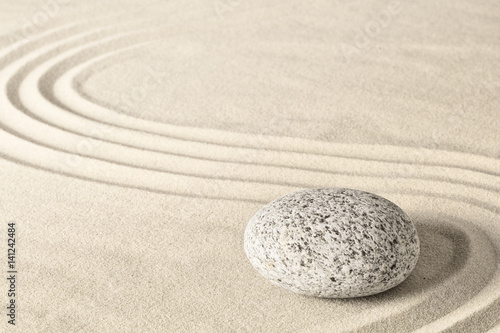 Deurstickers Stenen in het Zand Spa wellness zen stone garden. Relaxation and meditation towards spirituality. Meditative background. ..