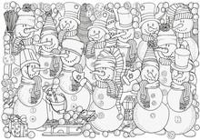 Cheerful Snowmen.