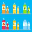 bottles of lemonade, vector set.
