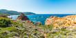 Colorful coast in Sardinia