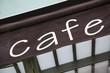 Diagonal Cafe Sign