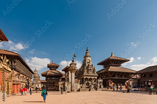 Canvas Prints Nepal November 25, 2013 - exterior of ancient city Bhaktapur, Nepal