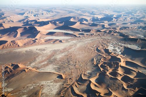 Foto op Aluminium Zalm Sossusvlei from the air