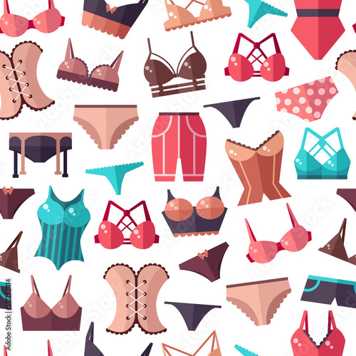 Lingerie. Seamless pattern Canvas-taulu