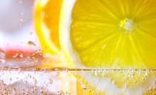 Orange And Lemon Slice In Spar...