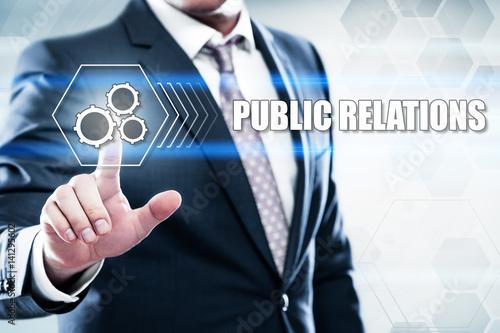Fotografie, Tablou  Public Relations PR Marketing Advertising Social Media Internet Business Technol