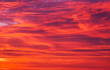 canvas print picture - Beautiful fiery orange sky during sunset or sunrise.