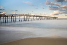 Long Wooden Fishing Pier In Th...