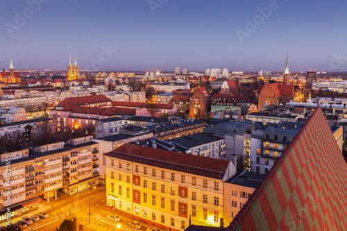 Foto op Plexiglas Toscane Aerial panorama of Wroclaw