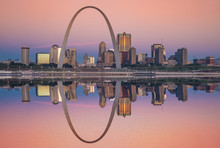 St Louis Gateway Arch Sunrise