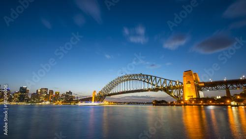 Staande foto Sydney Sunset from Sydney Harbor bridge.
