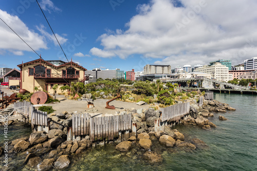 Wellington waterfront in New Zealand capital city
