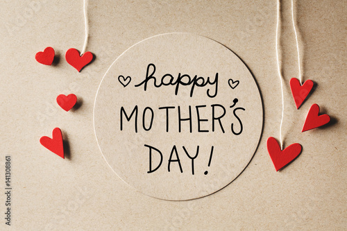 Happy Mothers Day message with small hearts