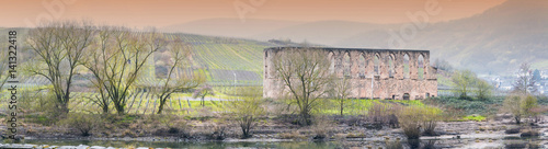 Foto op Aluminium Rudnes Ruine Kloster in Stuben, an der Mosel