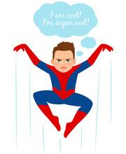 Superhero Spider Boy Illustration