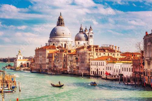 Photo  Grand Canal and Basilica Santa Maria della Salute in Venice