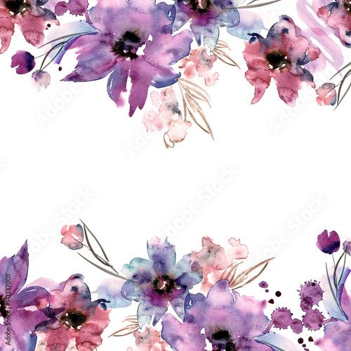 ladny-kwiat-rama-recznie-malowane-kwiatowy-tlo-zaproszenie-kartka-slubna