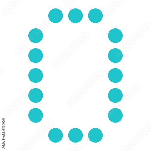 Digital letter O display board round dot - Buy this stock vector and