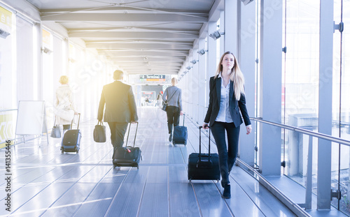 Fotografie, Obraz young business woman traveling stock photo