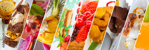 La pose en embrasure Dessert assortiment de desserts