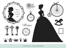 Vintage Silhouettes Set. Princ...