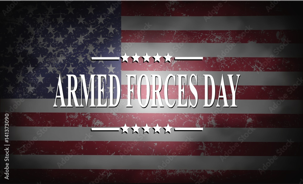 Fototapety, obrazy: ARMED FORCES DAY , Poster with USA flag