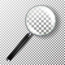 Realistic Magnifying Glass Vec...