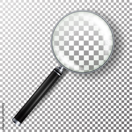 Realistic Magnifying Glass Vector Canvas Print