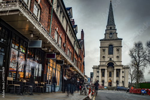 Foto Christ Church in Spitalfields in London Borough of Tower Hamlets England, UK is