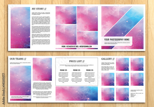 square grid style photography brochure layout 1 buy this stock