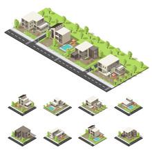 Isometric Suburban Buildings C...