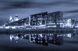 View Across the River Mersey of the Famous Liverpool Waterfront at Night
