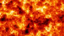 Incandescent Burning Fire Lava...