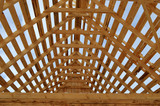 процесс набора  крыши