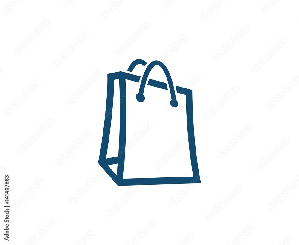 Fototapeta Shopping bag logo
