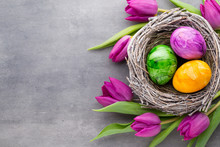 Spring Greeting Card. Easter E...