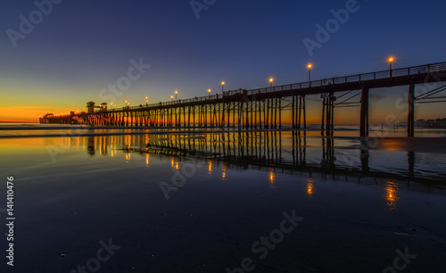 Canvas Print Oceanside Pier in Southern California