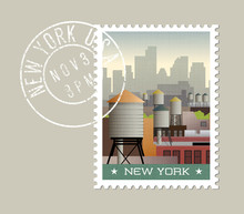 New York Postage Stamp Design....