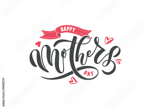 Happy Mother's Day text as Mothers Day badge/tag/icon Canvas Print