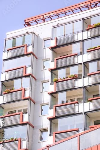 Poster Bibliotheque Modernes Wohngebäude in Deutschland