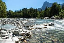 Summer Cascade Mountain River ...