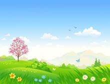 Spring Cartoon Landscape