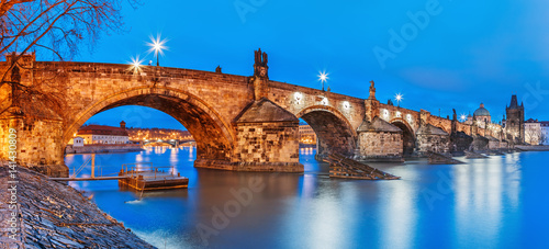 Charles Bridge landmark over Vltava river Wallpaper Mural