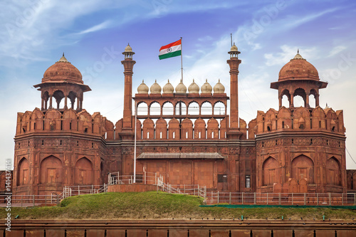 Fotobehang Vestingwerk Red Fort Delhi also known as the